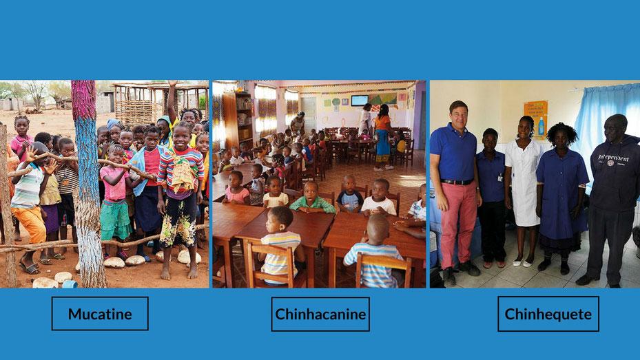 Schule und Vorschulkindergarten in Mosambik