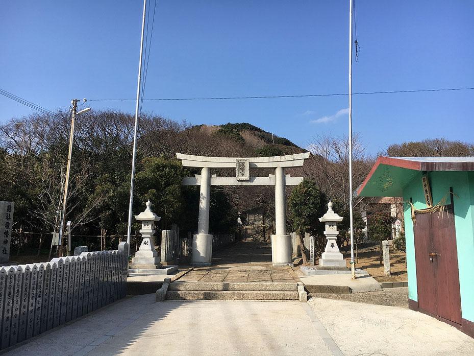 宗像市の織幡神社の鳥居