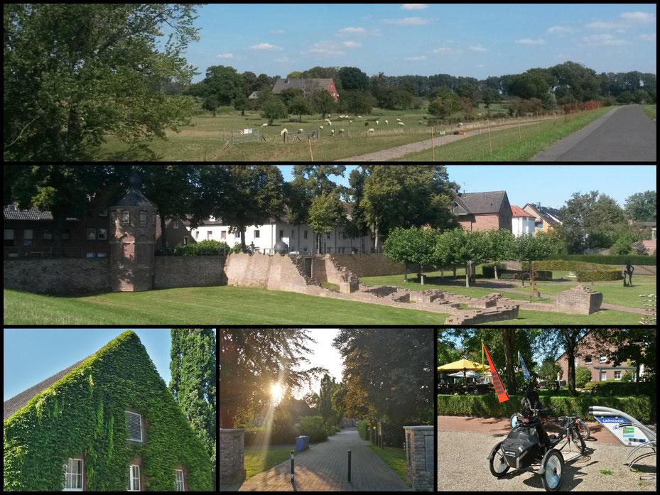 """Willkommen auf der """"3-Flüsse-Route"""", kleine Collage zum Start"""