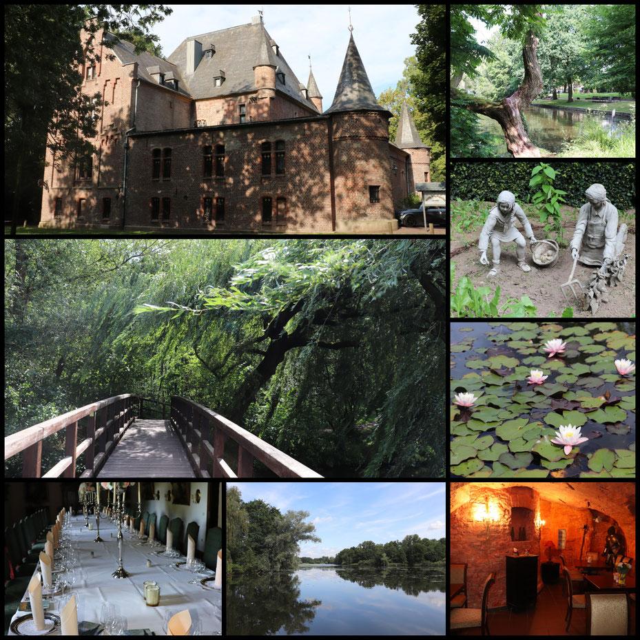 Willkommen an den Nette-Seen bei Lobberich: Schloss Ingenhoven von innen und von außen, Seenlandschaften mit Seerosen an den Netteseen