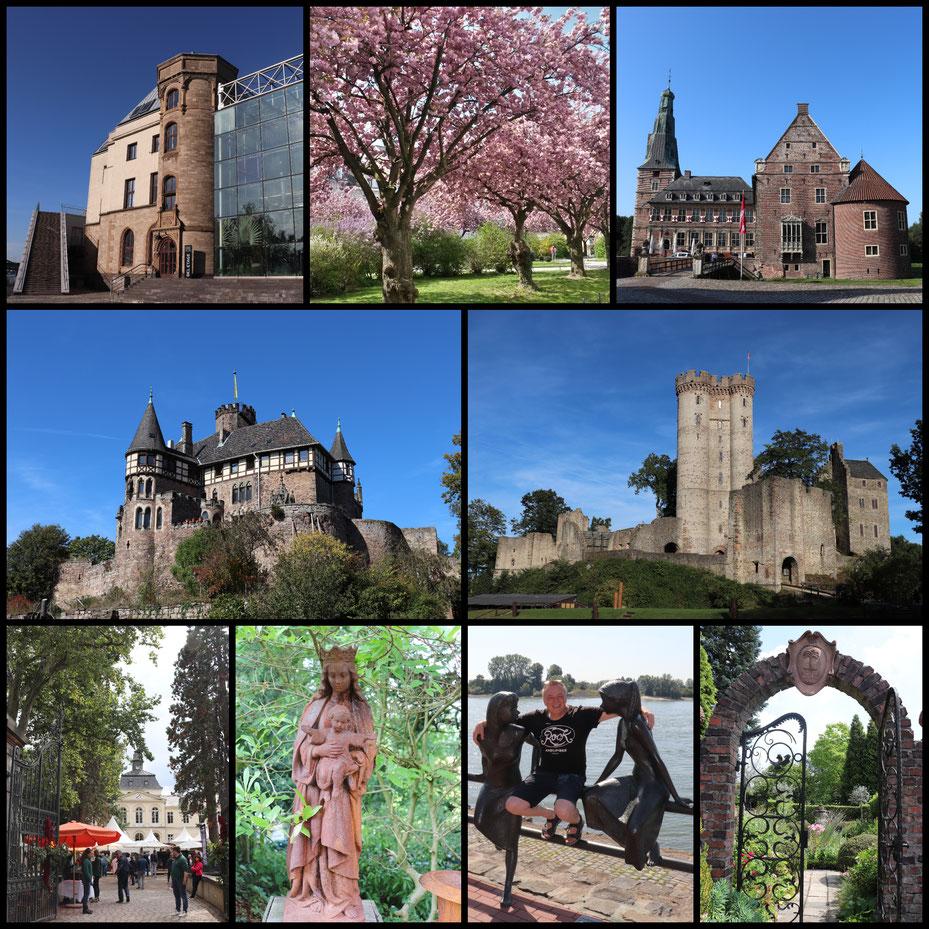Canon Collage mit Schloss Berlepsch, der Kasselburg in der Eifel, Schloss Eller, Schloss Raesfeld und dem Schokoladenmuseum Köln