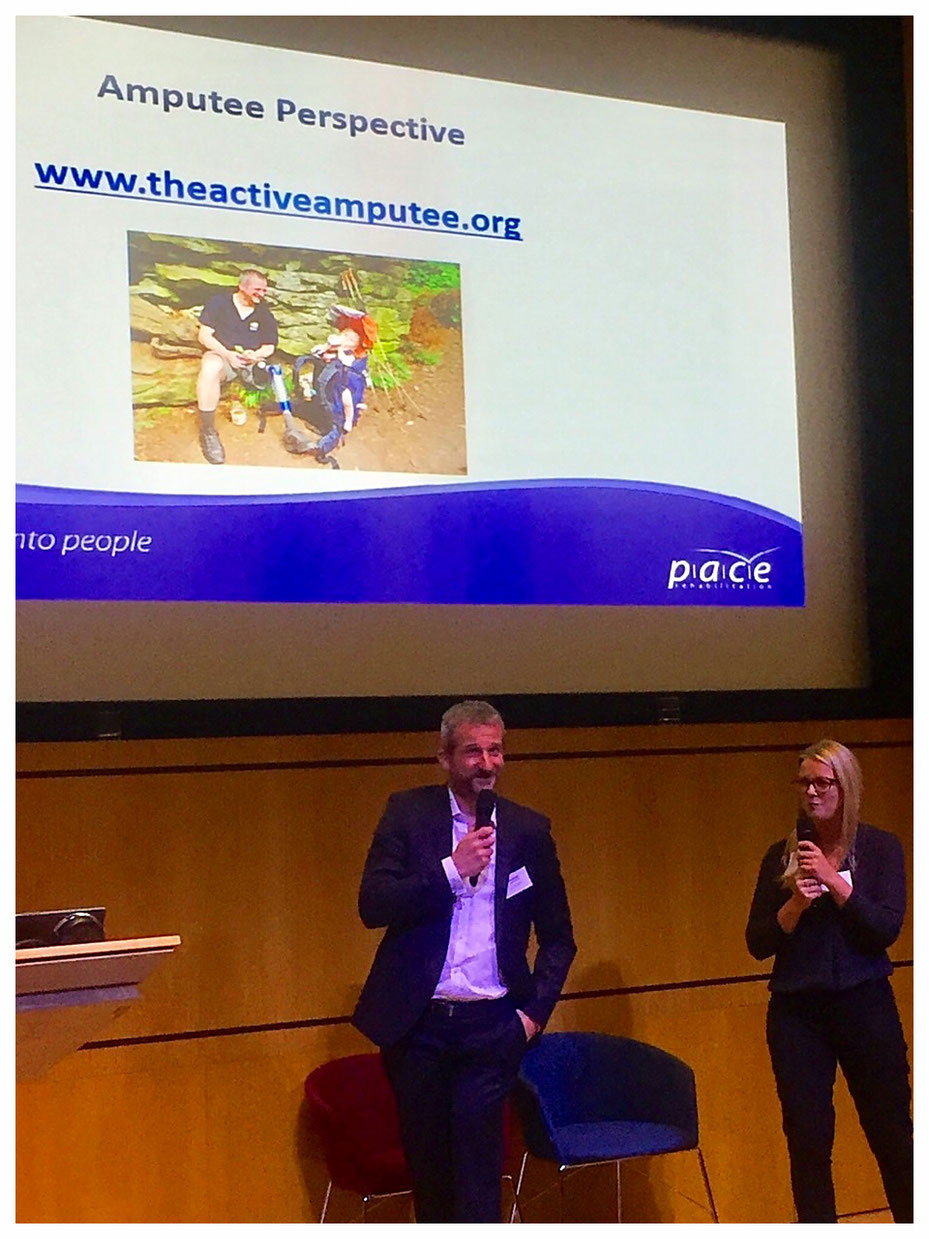 Sharing about the importance of being active during this year's PACE Rehab conference.