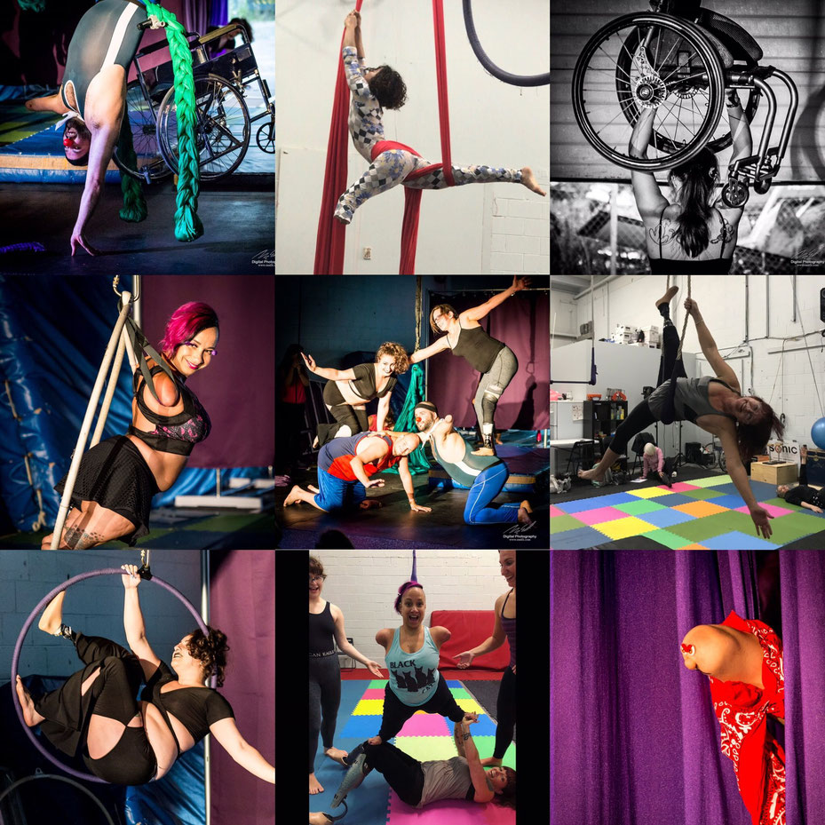 Circus for people of all abilities (picture by Michael East, courtesy of Erin Ball)