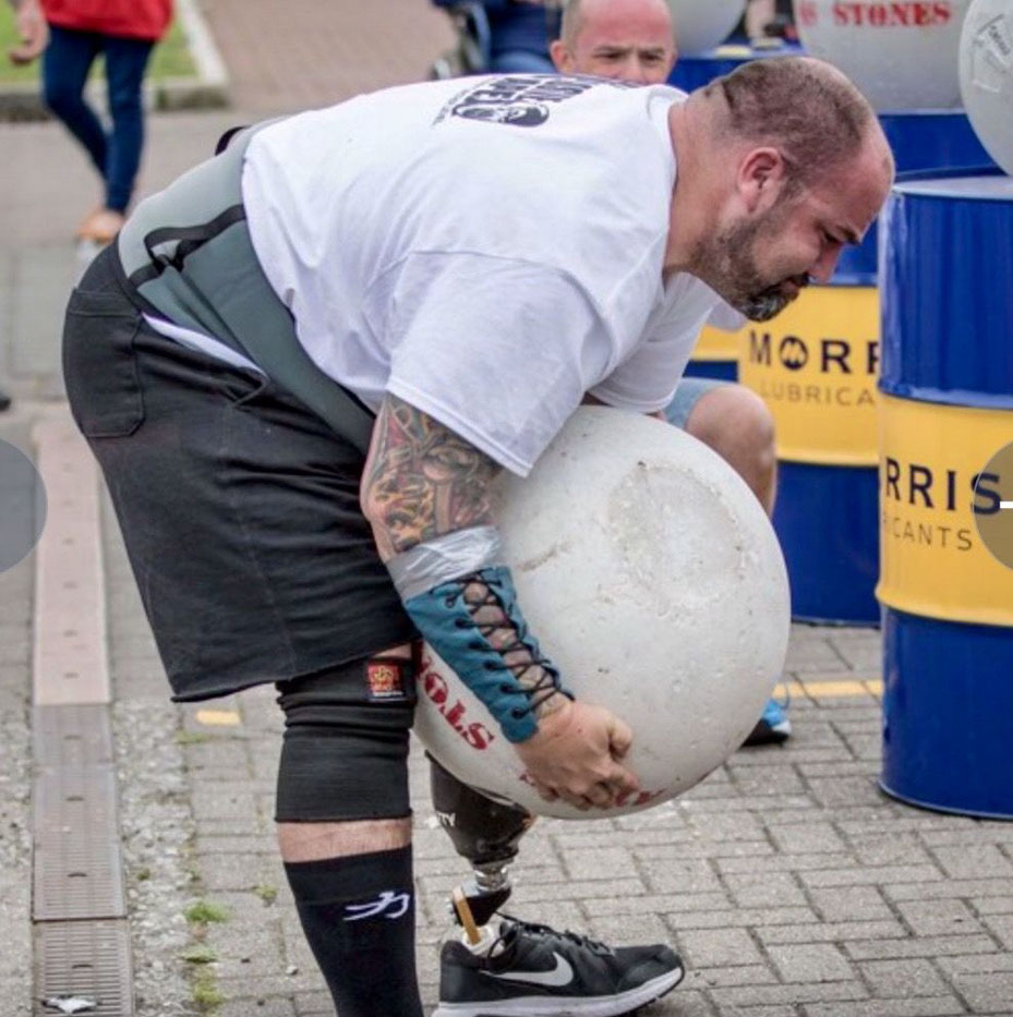 Moving from adaptive sports to mainstream sports - strongman and power lifter Dan (picture courtesy of Dan Nunnelly)