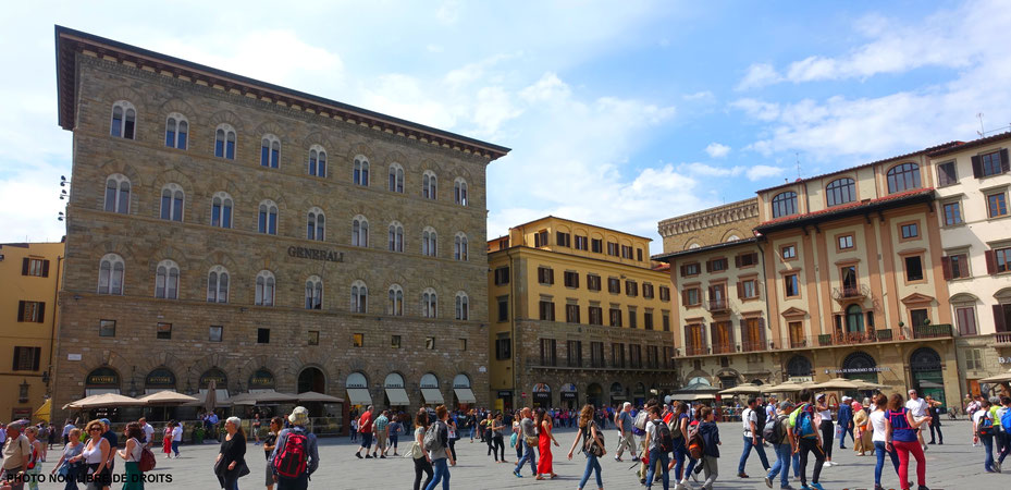 Piazza della Signoria, Florence, photo non libre de droits