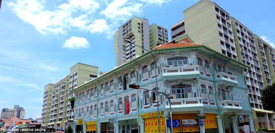 Passé, présent, Singapour, photo non libre de droits