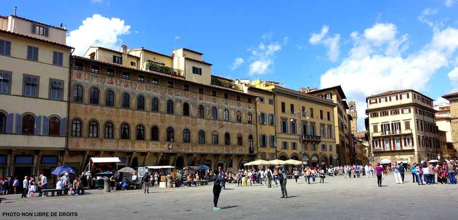 Piazza di Santa Croce, Florence, photo non libre de droits