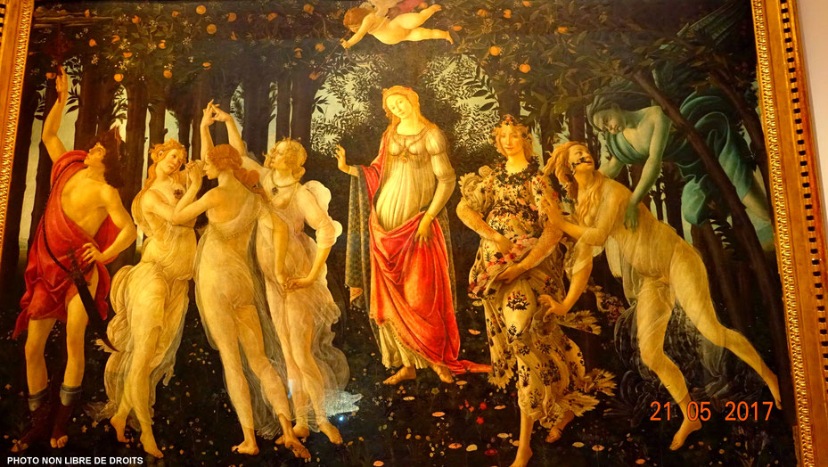 Le Printemps, Botticelli, Florence, photo non libre de droits