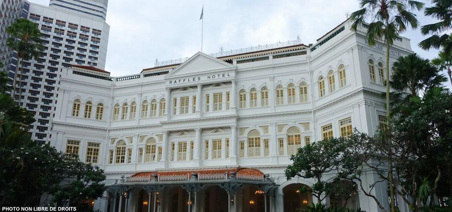 Raffles Hôtel, Singapour, photo non libre de droits