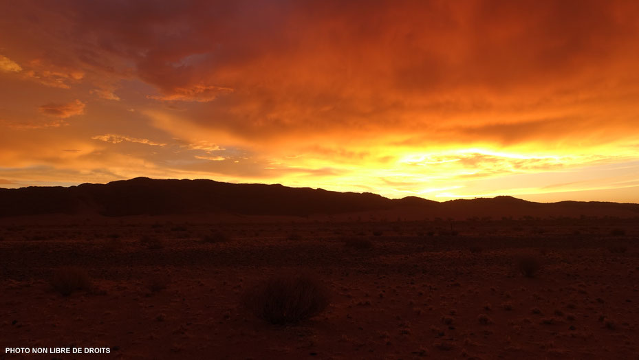 Embrasement sur le Namib, photo non libre de droits