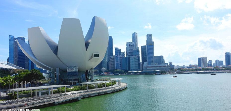 Le Singapour du futur, photo non libre de droits