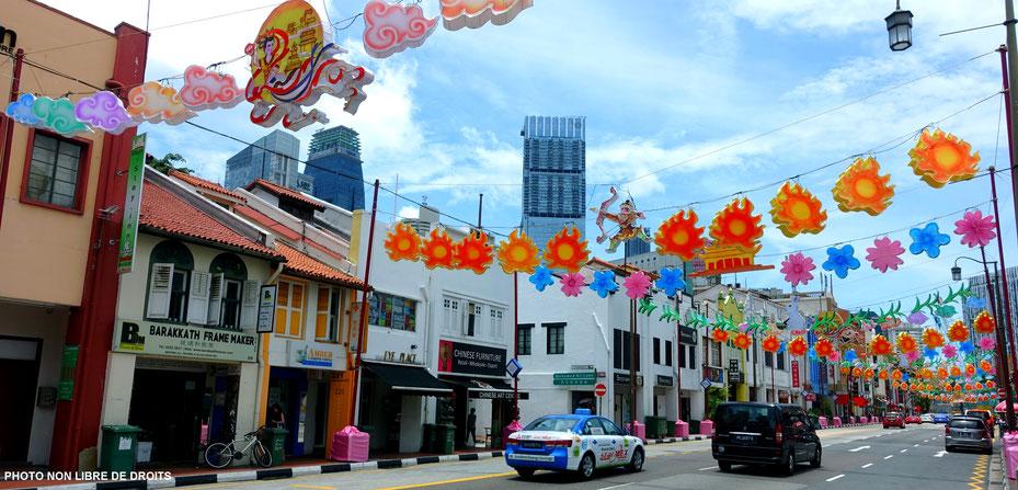 South Bridge Road,  quartier chinois, Singapour, photo non libre de droits