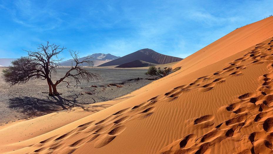 Dune lointaine, Namibie, photo non libre de droits