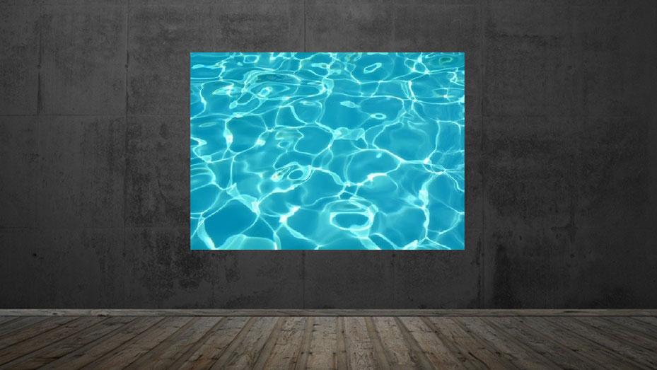 "Fineart, beleuchtetes LED Wandbild ""Wellen"" bei frescovision.info. Wand- und Deckenbilder Produkte in unserem Shop."