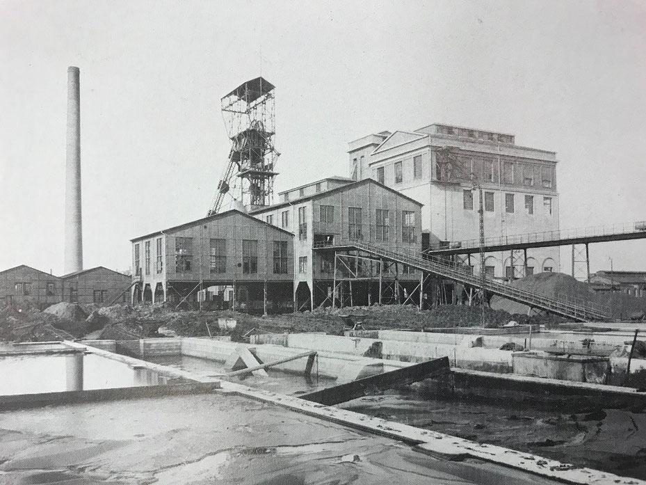Auf Schacht III in Rünthe arbeiteten viele Bergleute aus dem Mansfelder Land. Das Foto entstand 1920.  (Bildnachweis: Stadtarchiv Bergkamen)