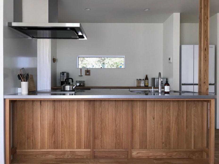 木のキッチン オークのキッチン 造作キッチン オーダーキッチン