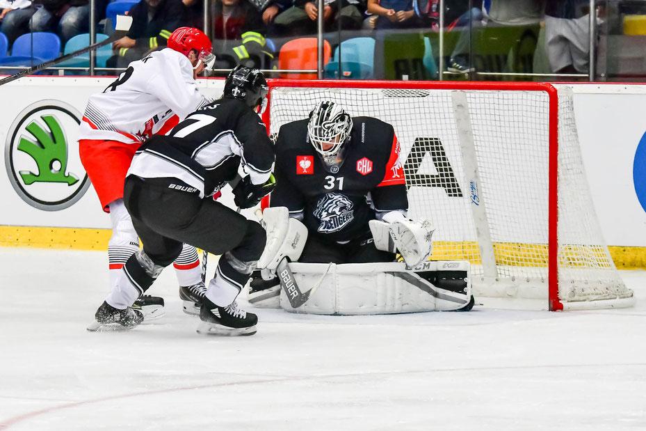 Foto: Birgit Eiblmaier // Der Goalie Niklas Treutle war der Held des Spiels.