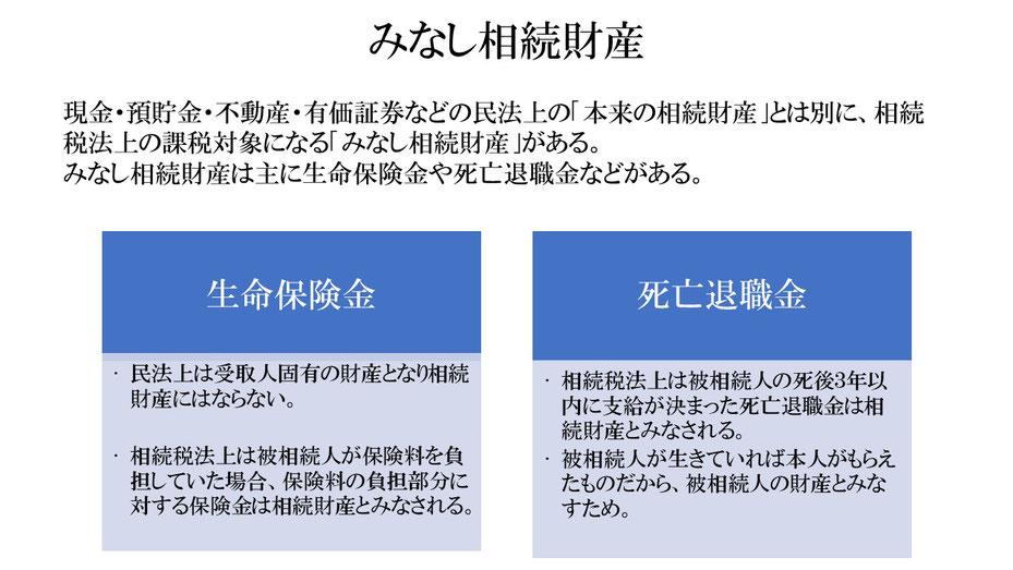 みなし相続財産(生命保険金・死亡退職金)