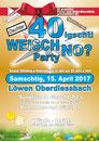 Löwen Oberdiessbach, Weisch no? Party, DJ Aspen, Oldies, Surprise Discothek, April 2017