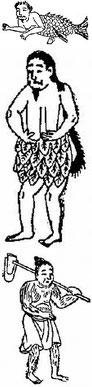 Homme de Ti, sauvage, velu. Fernand de Mély (1852-1935) : Le « De Monstriis » chinois. Revue archéologique, 1897.