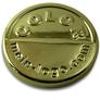 Logo Plättchen gold