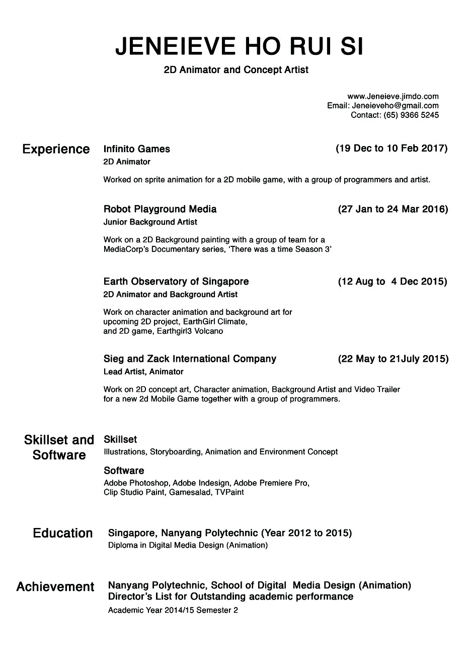 Jeneieve's Resume