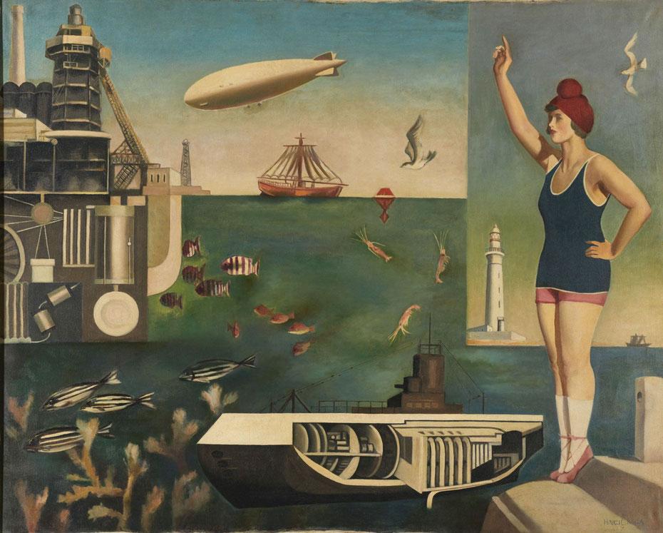 古賀春江の《海》,1929年