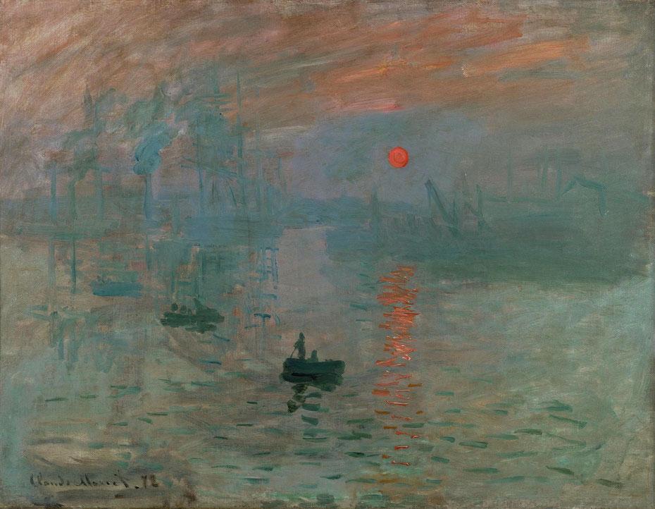 クロード・モネ《印象、日の出》1872年