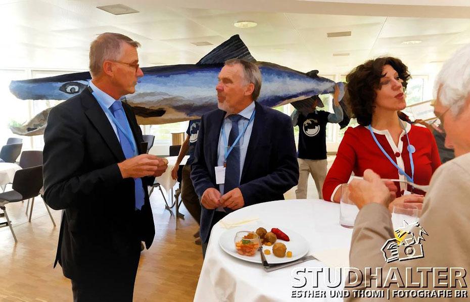 WWF: Lachs-Comeback an der Rheinministerkonferenz in Basel: Lachs-Apéro