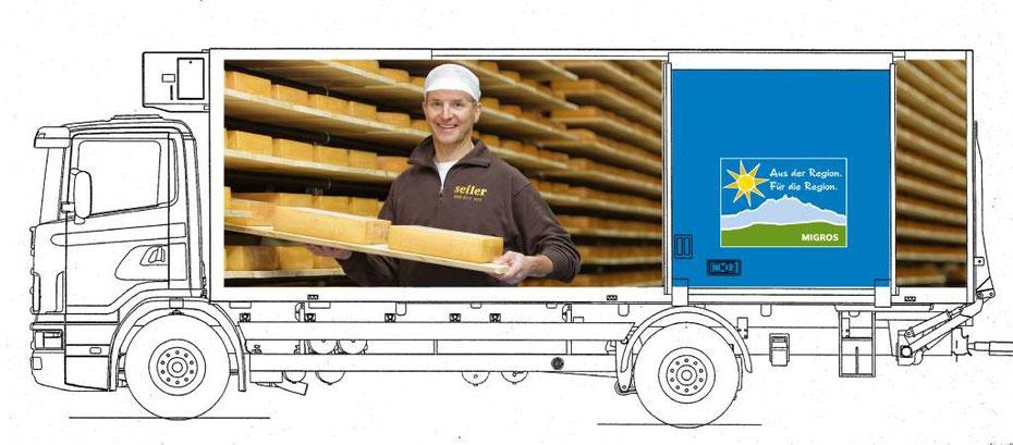 Felix Schibli, Geschäftsleiter Seiler Käserei AG Sarnen (Lieferant AdR-Raclette-Käse) im Felsenkeller Giswil