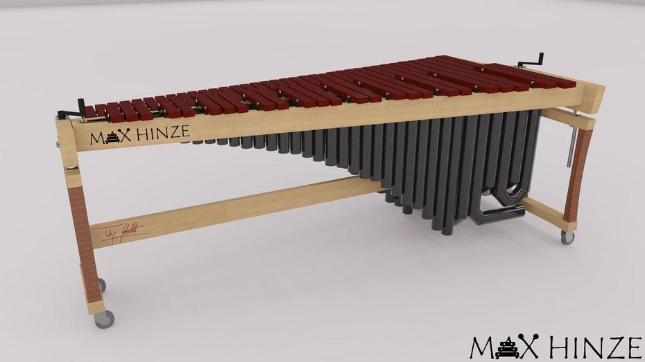 3D CAD Zeichnung Modell selbstgebautes DIY Marimba Marimbaphon Plan Sketchup Brighter3D, Max Hinze selbst gebautes Marimba selbstgebautes Marimbaphon DIY, Urs Scheller