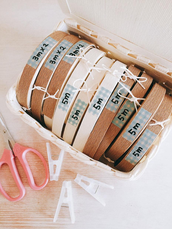 紙バンドの在庫管理の仕方CHIKAのおうちかご