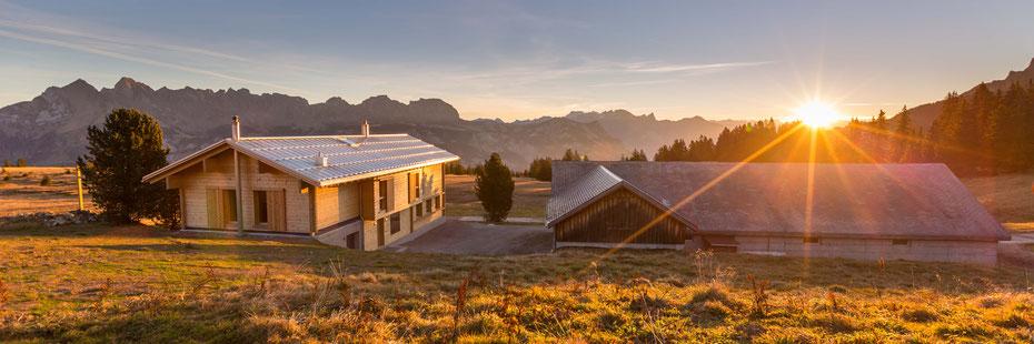 Alpenlodge Prod im Sommer