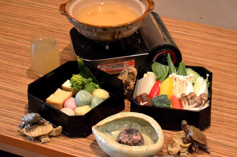 すっぽん生麩鍋(小鍋セット)