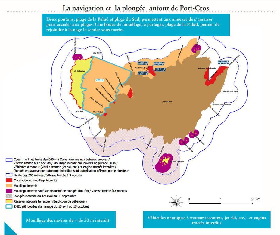 Nouvelle réglementation concernant le mouillage entre Port-Cros et Bagaud 2021
