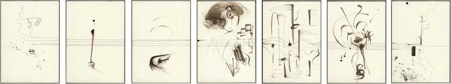 Gehirnmusik - In Memoriam Anton Bruckner (Tuschezeichnungen)