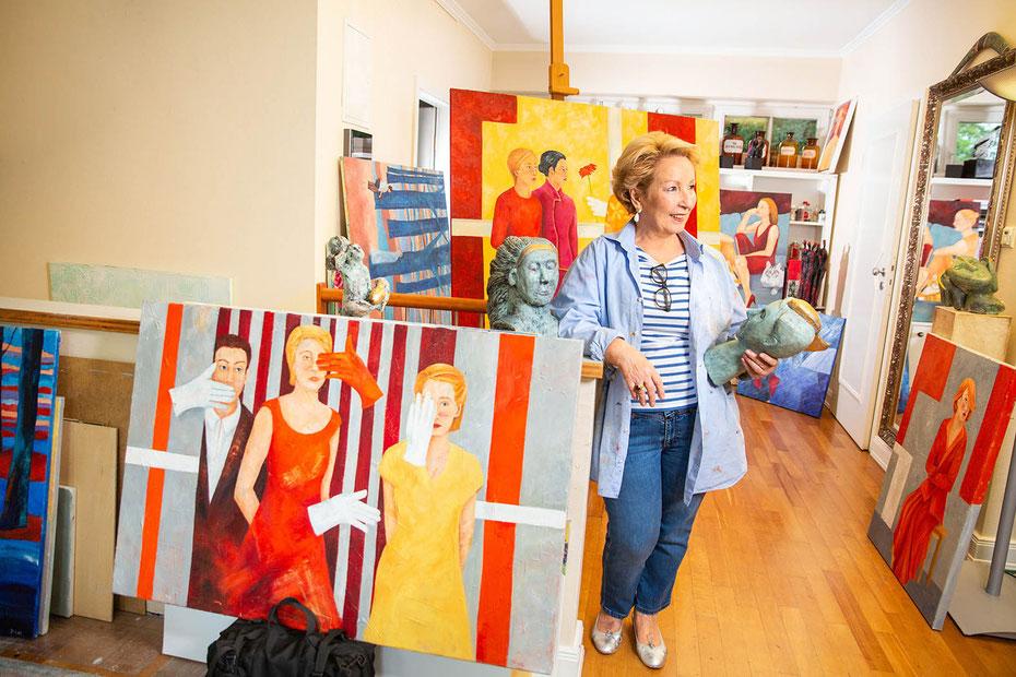 Karin Strobl in ihrem Atelier