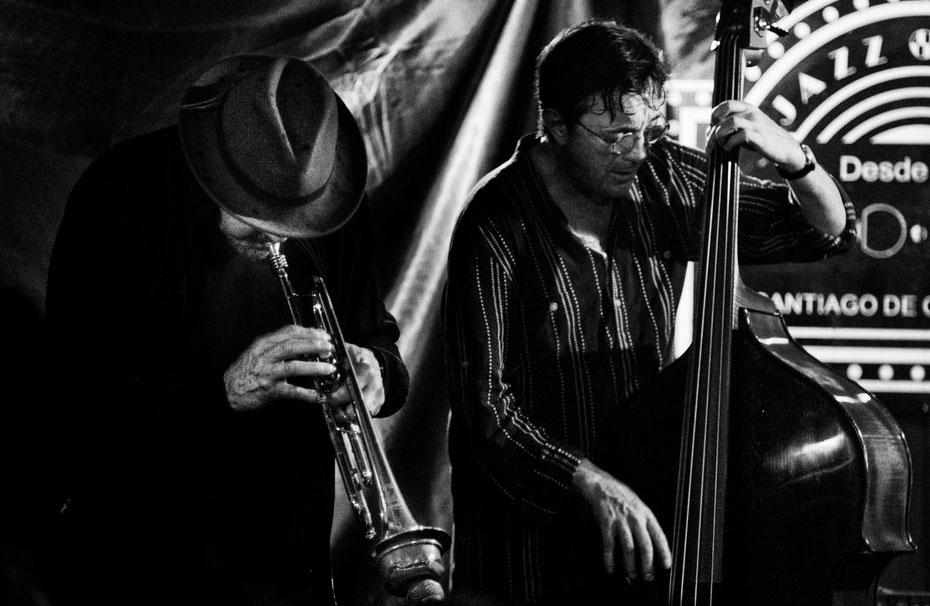 Jerry Gonzalez y Javier Colina en concierto en el Dado Dada. Santiago de Compostela, Abril 2014