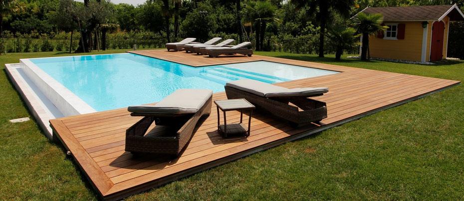 Produzione piscine fuori terra e interrate