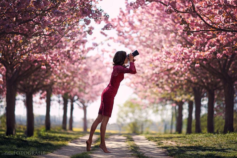 Portraits Kirschblüten mit Severin von SchönFotografie