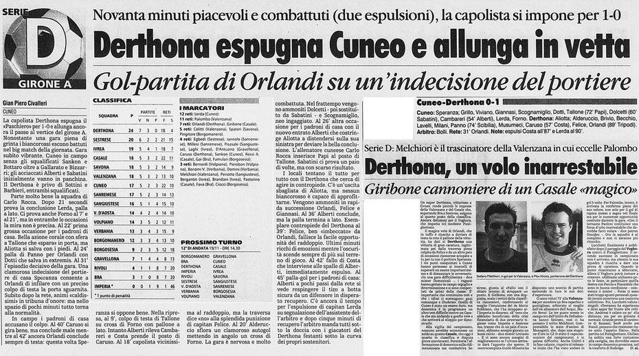 2000-01 CUNEO-DERTHONA 0-1