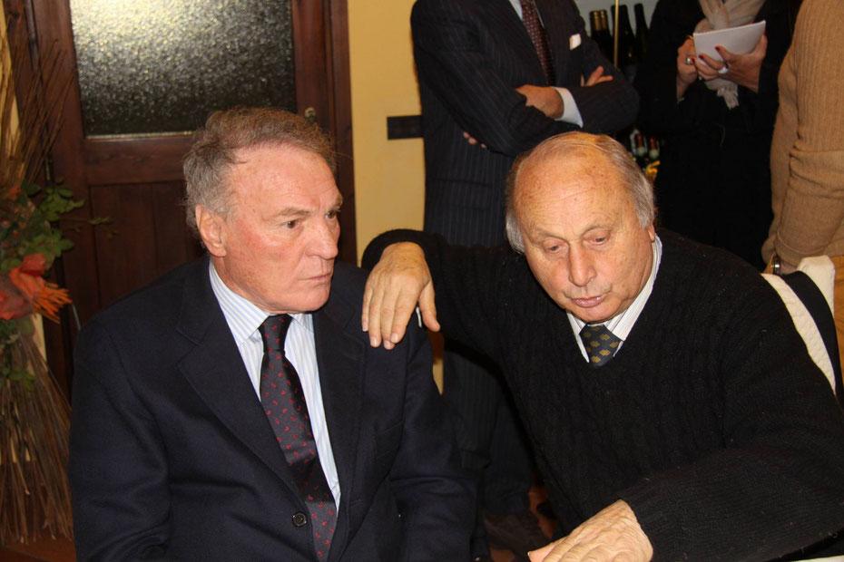 2009-10 Il Presidente Onorario Josè Altafini con il Presidente Ambrogio Pelagalli