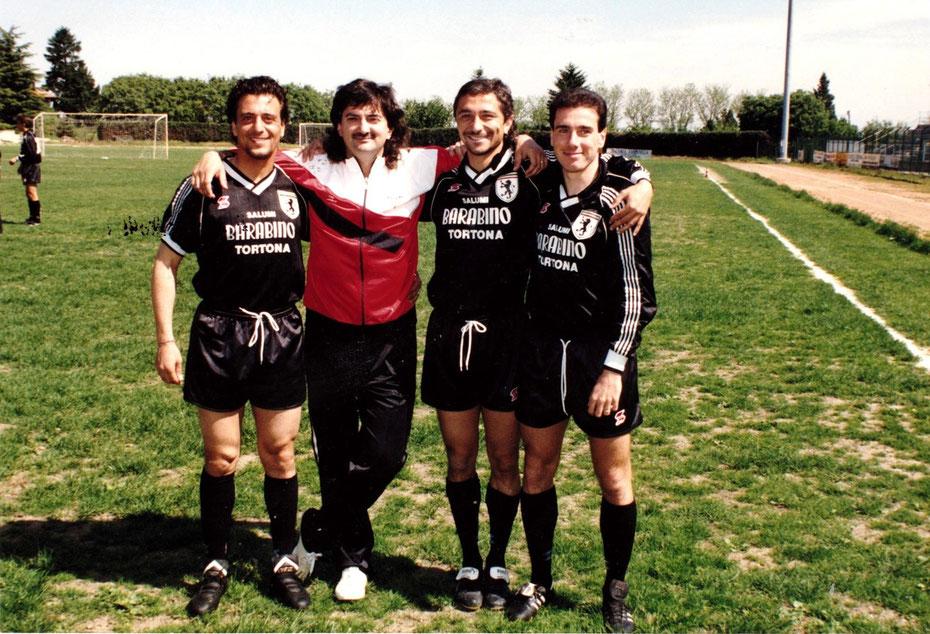 1990-91 da sx: Cecilli, Ronca, Lussignoli, Picasso