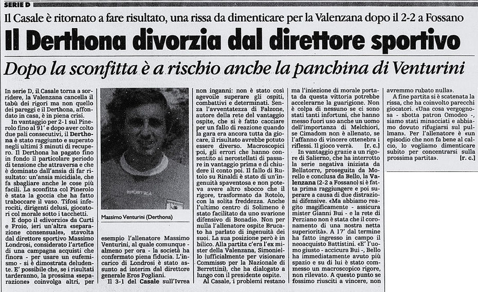 1997-98 DERTHONA - PINEROLO 2-3