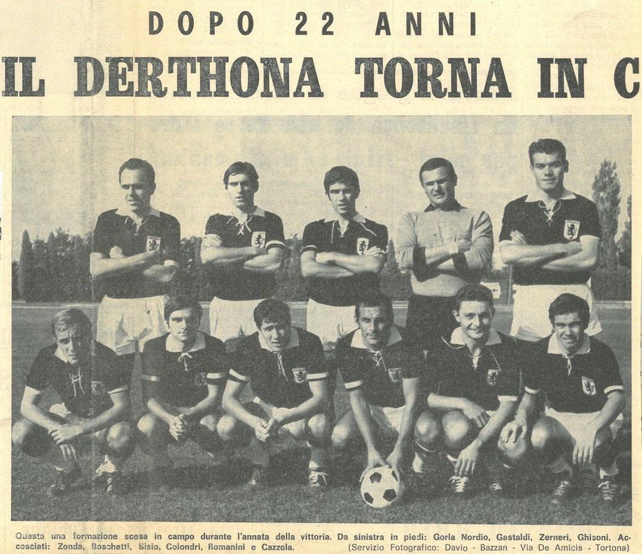 DERTHONA 1968-69 PROMOZIONE IN SERIE C