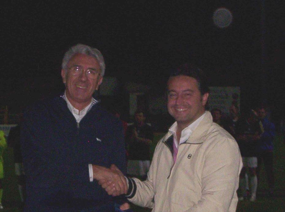 Il Presidente Borasi e il figlio del Presidente Vinciguerra
