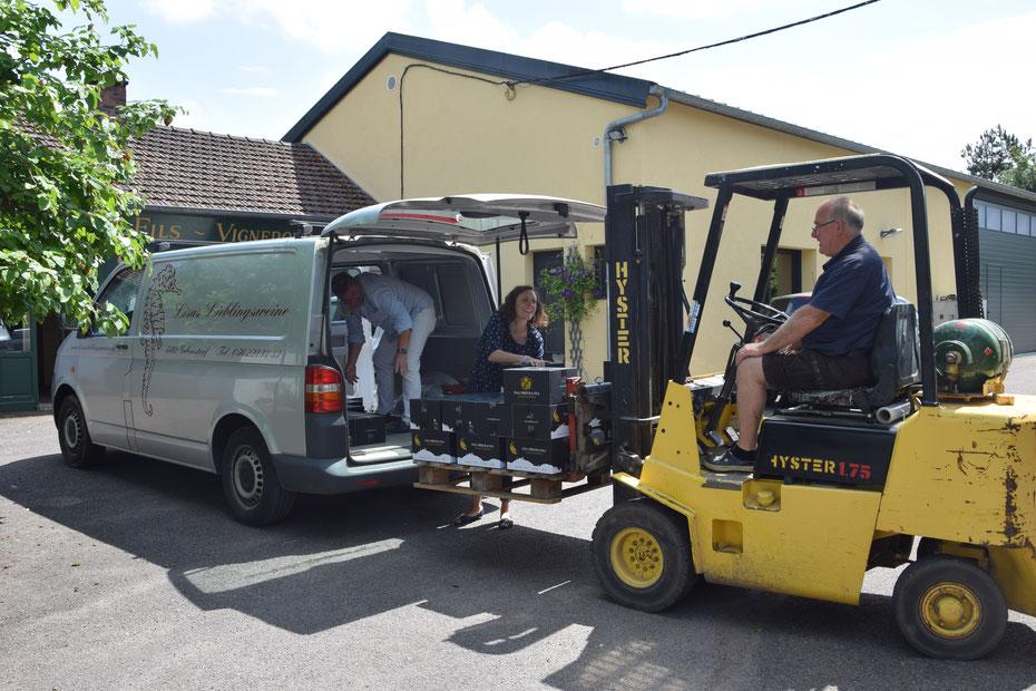 In action in Sancerre bei Paul Prieur et Fils!