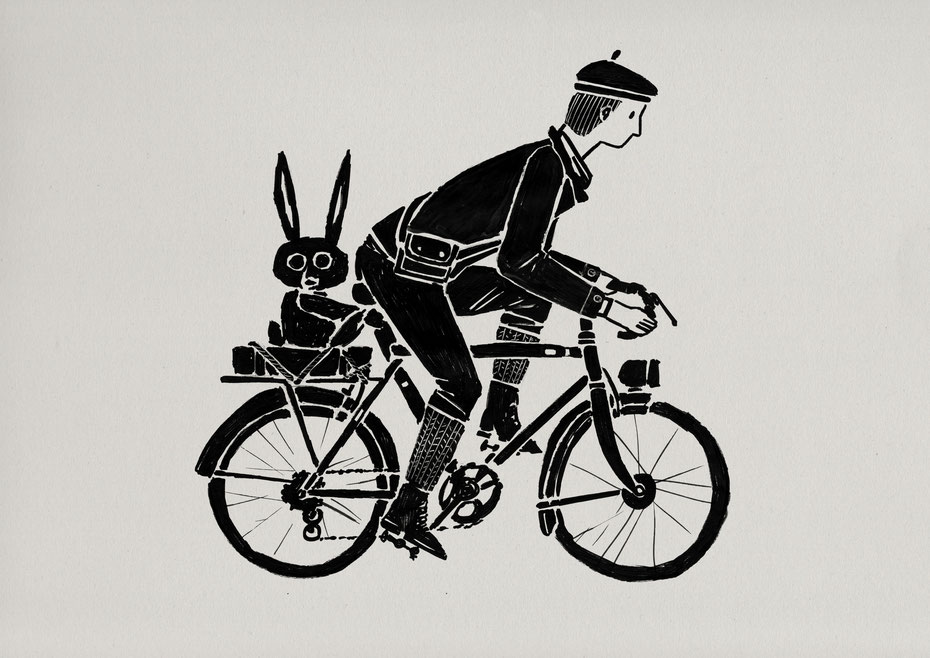 handmade bicycle.