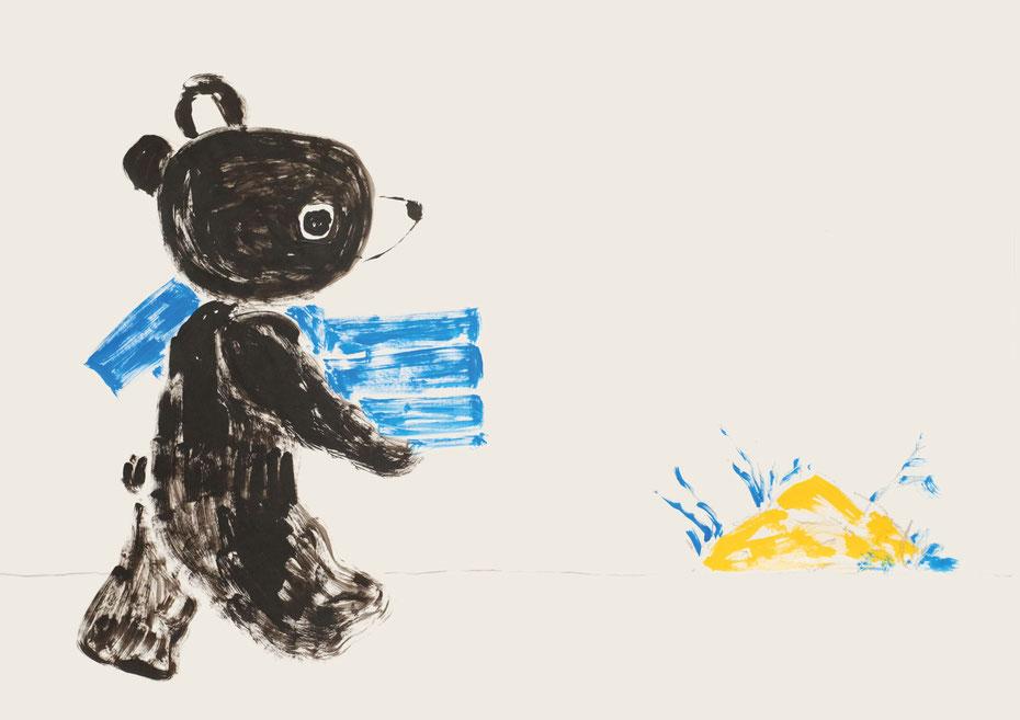 広島の絵本作家アーティストであるミヤタタカシによる呉市立美術館にて個展