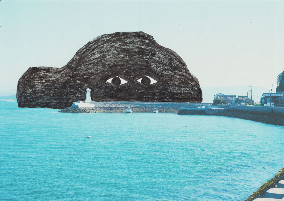 Umibouzu(Japanese sea monster) Picrurebook by Japanese artist Takashi Miyata ミヤタタカシ